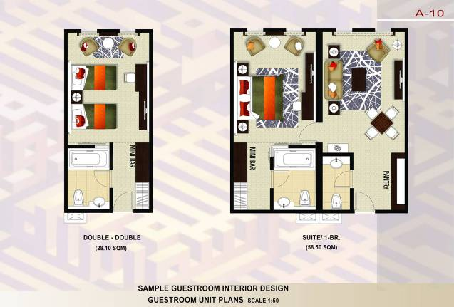 Figure 8 Furnished Room Plans